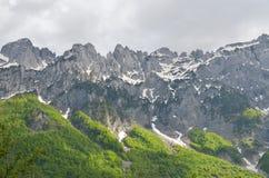 Montagne di Valbona in Albania Fotografie Stock