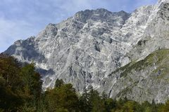 Montagne di Watzmann vicino a Berchtesgaden, Baviera, Germania Immagini Stock Libere da Diritti
