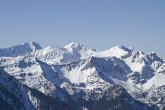 Montagne di Wetterstein nell'inverno Immagini Stock