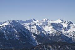 Montagne di Wetterstein nell'inverno Fotografie Stock