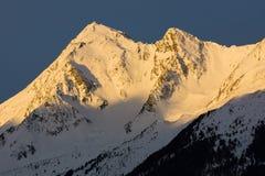 Montagne di Winterly Immagini Stock Libere da Diritti