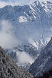 Montagne di Winterly Immagine Stock