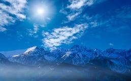 Montagne a distanza Fotografia Stock Libera da Diritti