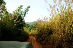 Montagne du croisement 4WD Photographie stock libre de droits