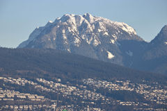 Montagne du nord de grouse du ` s de Vancouver Image libre de droits