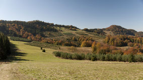 Montagne durante l'autunno Fotografia Stock Libera da Diritti