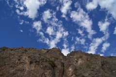 Montagne e cielo dell'Andalusia Fotografia Stock Libera da Diritti