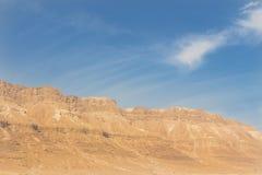 Montagne e cielo nel deserto di Israele Fotografia Stock Libera da Diritti