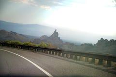 Montagne e colline nel Nevada Immagine Stock