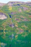 Montagne e fiordo in Norvegia, Fotografia Stock
