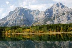 Montagne e foreste della riva del lago Immagine Stock Libera da Diritti