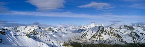 Montagne e ghiacciai in Wrangell-St Sosta nazionale del Elias, Alaska fotografia stock libera da diritti