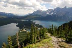 Montagne e laghi Immagine Stock