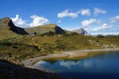 Montagne e lago in Austria Fotografie Stock Libere da Diritti