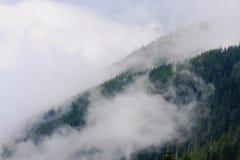 Montagne e nebbia Fotografia Stock Libera da Diritti