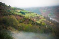Montagne e nebbia della Galizia Fotografia Stock