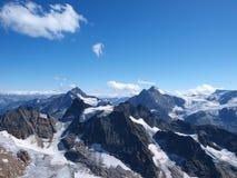 Montagne e neve Fotografie Stock