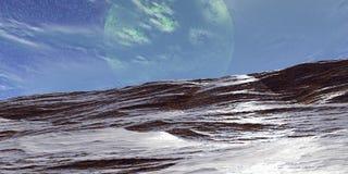 Montagne e neve Illustrazione Vettoriale