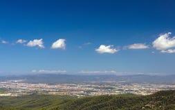 Montagne e nuvole Fotografia Stock