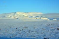 Montagne e nuvole Fotografia Stock Libera da Diritti