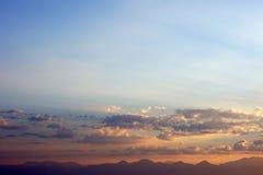 Montagne e orizzonte Immagine Stock