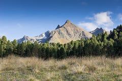 Montagne e paesaggio dei picchi Ghiacciaio di htai del ¼ di KÃ, ambiente naturale Facendo un'escursione nelle alpi di Stubai Vall Fotografia Stock Libera da Diritti