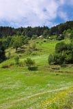 Montagne e pascolo sloveni fotografie stock libere da diritti