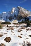 Montagne e prati di inverno Fotografia Stock
