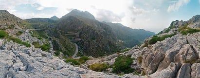 Montagne e serpentine su Majorca, Spagna Immagine Stock Libera da Diritti