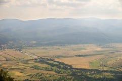 Montagne e valli di Balcani in Bulgaria Fotografia Stock