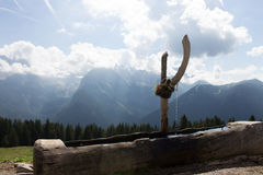 Montagne ed acqua Fotografia Stock Libera da Diritti
