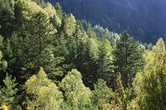 Montagne ed acqua in valle di Tena, Pirenei Panticosa Immagini Stock