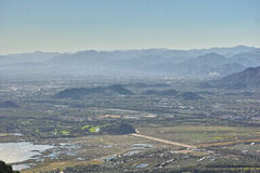 Montagne ed acque Fotografia Stock