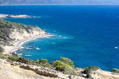 Montagne ed il mare Natura selvaggia La Grecia Fotografie Stock Libere da Diritti