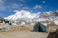 Montagne ed inclinazione vicino a Everest Fotografia Stock Libera da Diritti