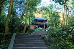 Montagne Emei - GE de Qingyin Photographie stock libre de droits