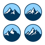 Montagne en cercle Logo Design Elements Vecteur Photos libres de droits