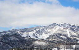 Montagne en hiver Photos stock