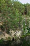Montagne en pierre de talc Photo libre de droits