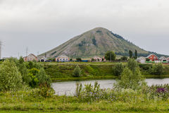 Montagne en Russie semblable au Fujiyama au Japon Photographie stock