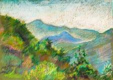 Montagne in Erge, Georgia Fotografia Stock Libera da Diritti