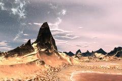 Montagne et eau illustration 3D image libre de droits