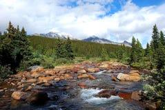 Montagne et fleuves Image libre de droits