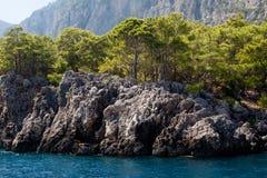 Montagne et mer Image libre de droits