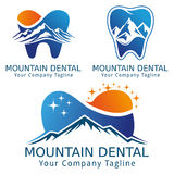 Montagne et nature dentaires de version de logo de concept Image libre de droits