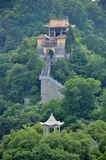 Montagne et temple du sud Photographie stock libre de droits