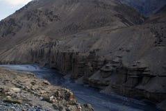 montagne et vallée dans le sarchu Image libre de droits