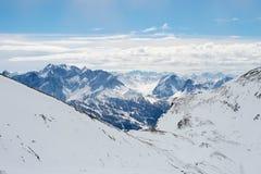 Montagne Europa Francia Valfréjus di Snowy immagine stock