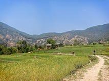 Montagne faisant du vélo au Népal Image libre de droits