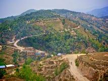 Montagne faisant du vélo au Népal Images libres de droits